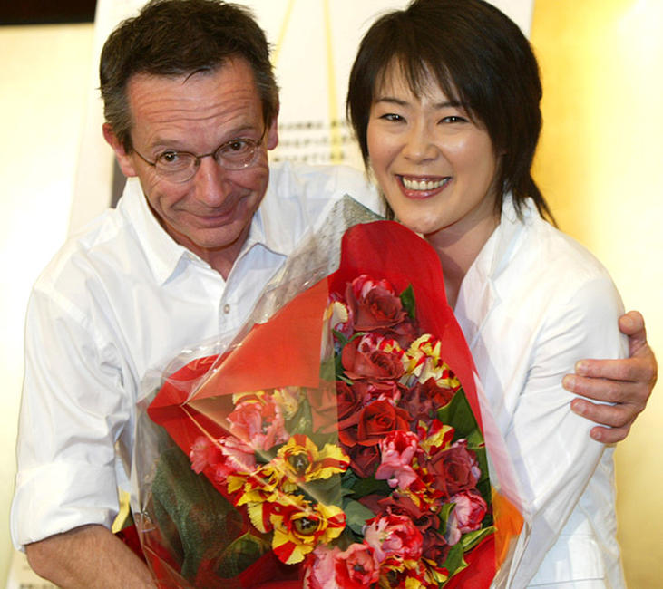 Director Patrice Leconte and Shinobu Terajima at the photocall of
