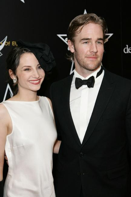 James Van Der Beek and Heather McComb at the 1st Hollywood Domino Tournament.