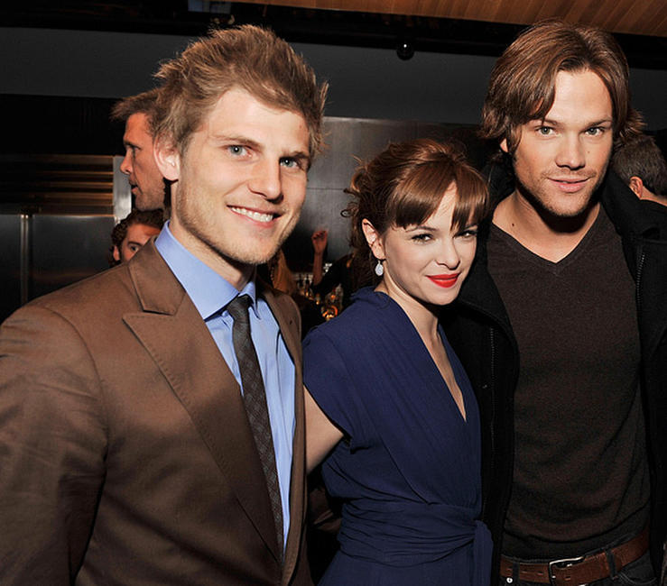 Travis Van Winkle, Danielle Panabaker and Jared Padalecki at the after party for the California premiere of