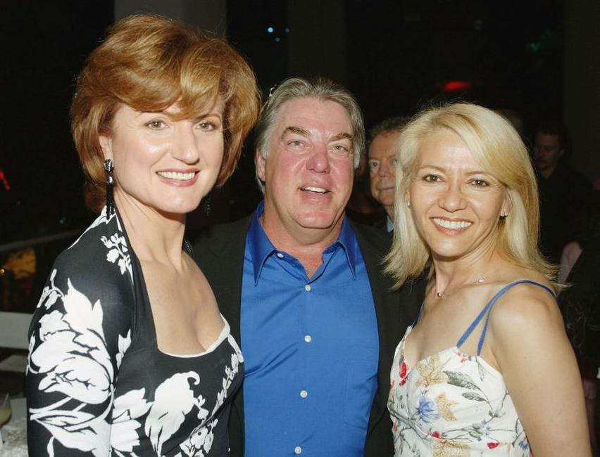 Arianna Huffington, Bruce McGill and Gloria Lee at the after party of