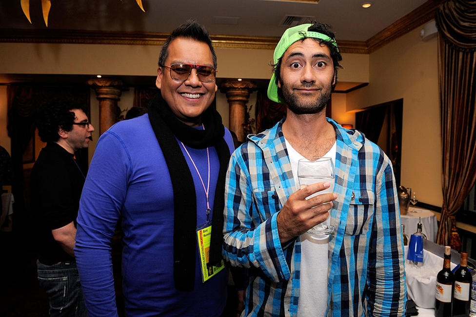 Director Bird Runningwater and Taika Waititi at the Patron Circle Reception during the 2010 Sundance Film Festival.