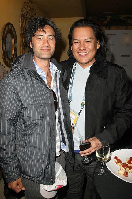 Taika Waititi and Guest at the Groundswell Production's Sundance party during the 2008 Sundance Film Festival.
