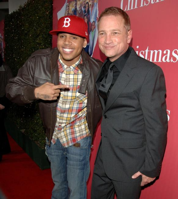 Chris Brown and Clint Culpepper at the premiere of