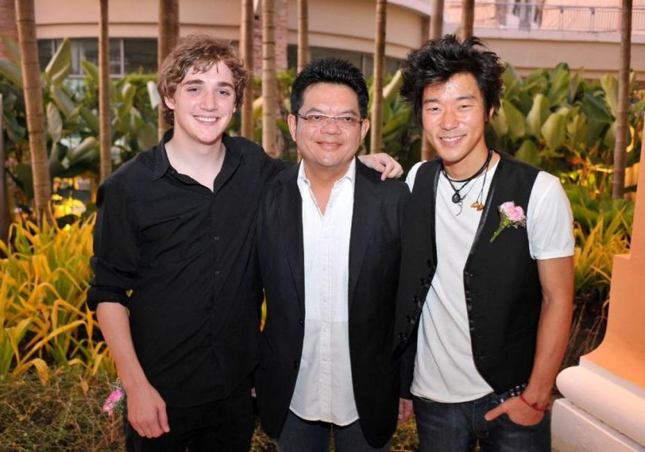 Kyle Gallner, Prawit Janyasittikul and Aaron Yoo at the Bangkok International Film Festival 2009.
