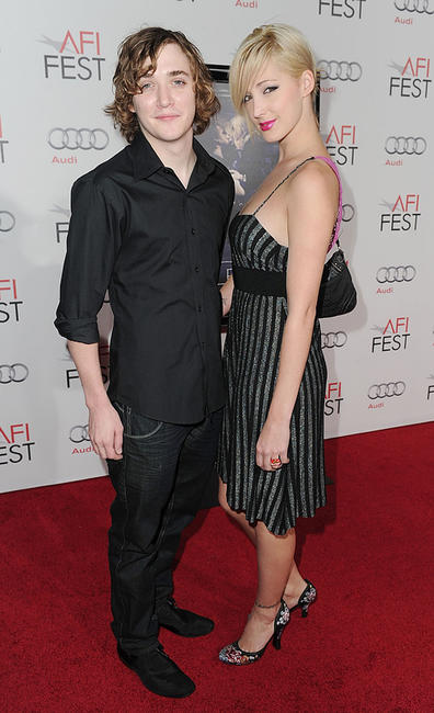 Kyle Gallner and Ambre Leigh Kulas at the California premiere of