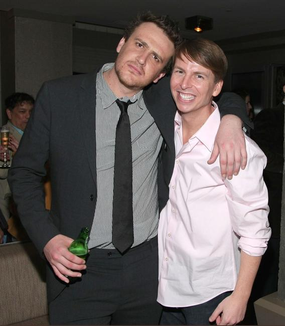 Jason Segel and Jack McBrayer at the after party of the screening of