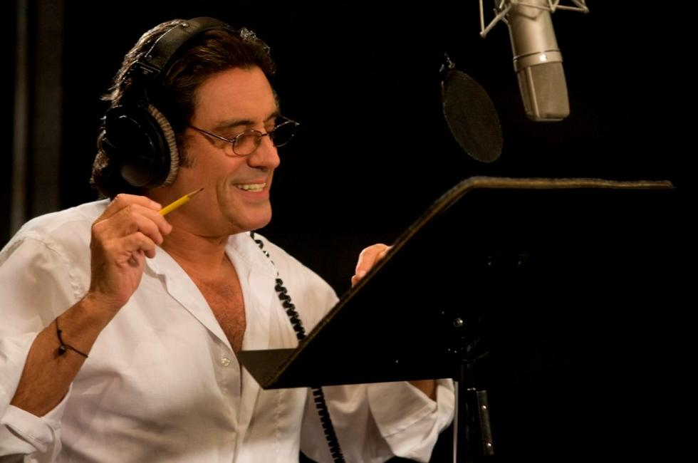 Ian McShane on the set of