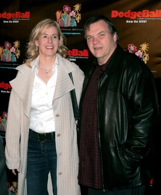 Meatloaf and guest at the Dodgeball: The Celebrity Tournament and celebrate the DVD Release of