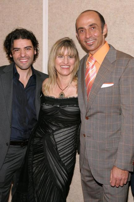 Oscar Isaac, director Catherine Hardwicke and Shaun Toub at the premiere of
