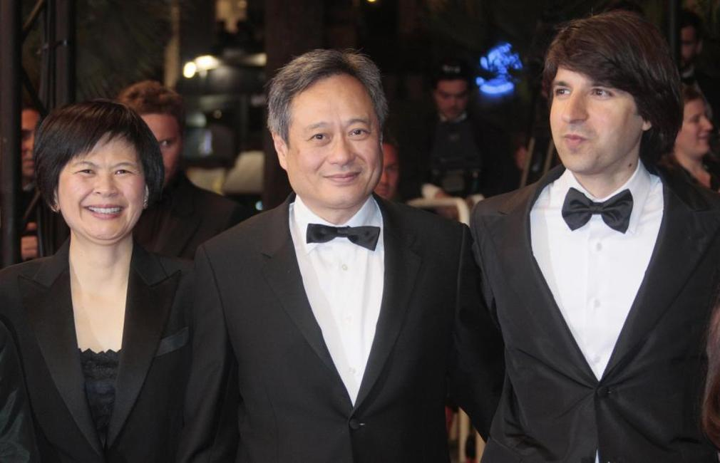 Ang Lee, Demetri Martin and Janice Lin at the screening of