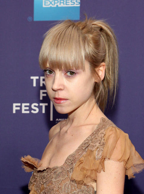Antonia Campbell-Hughes at the New York premiere of