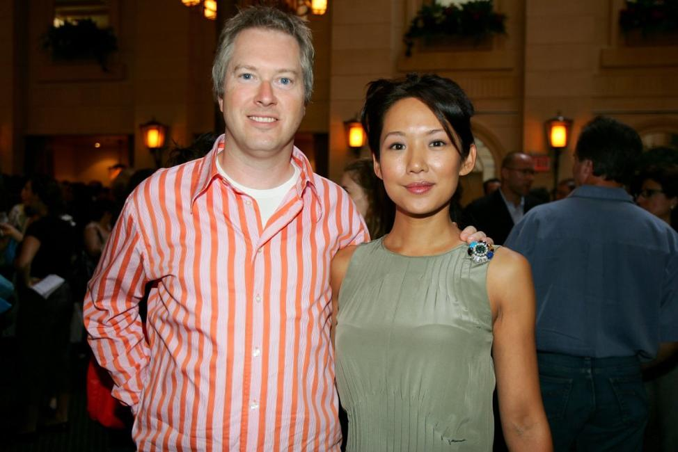 Director Paul Fox and Steph Song at the ThinkFILM's 5th Anniversary Breakfast.
