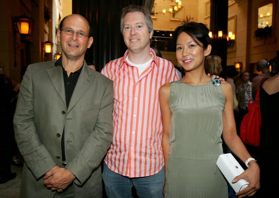 Jeff Sackman, director Paul Fox and Steph Song at the ThinkFILM's 5th Anniversary Breakfast.