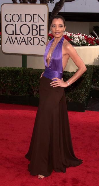 Michael Michele at the 58th Annual Golden Globe Awards.