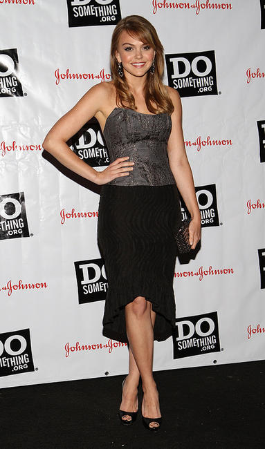 Aimee Teegarden at the 2011 Do Something Awards Kick-Off in New York.