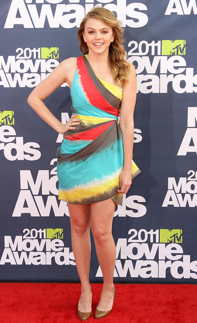 Aimee Teegarden at the MTV Movie Awards  in California.