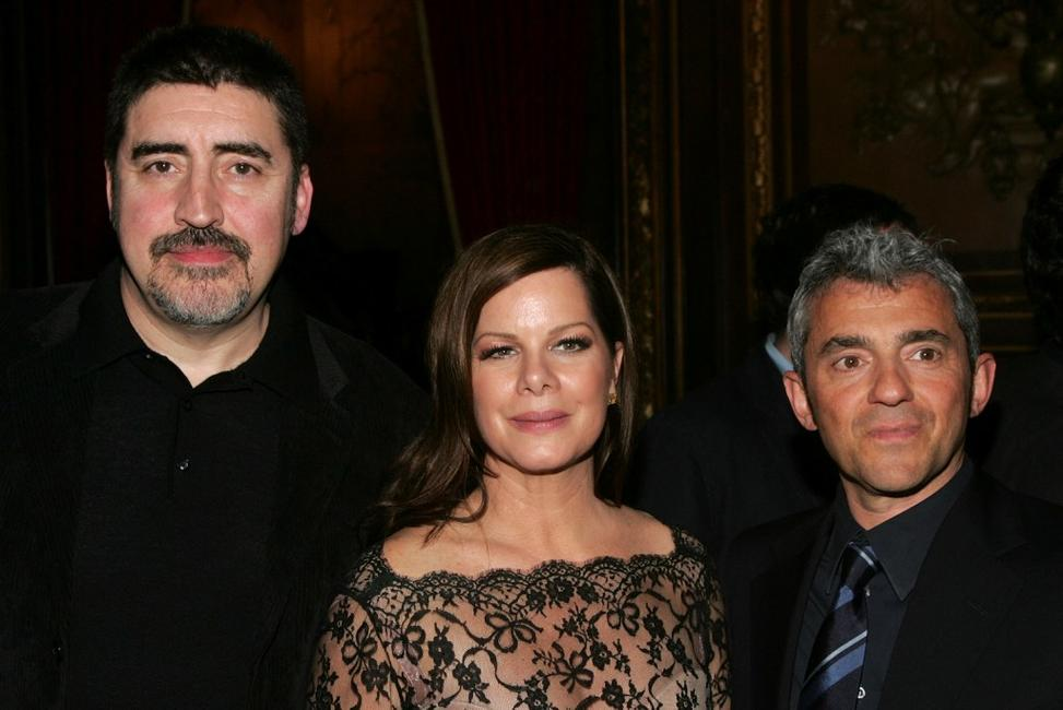 Alfred Molina, Marcia Gay Harden and Daniel Battsek at the Miramax Films premiere of