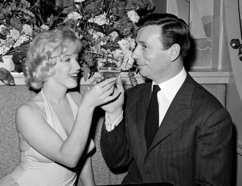 Yves Montand and Marilyn Monroe at the screening of