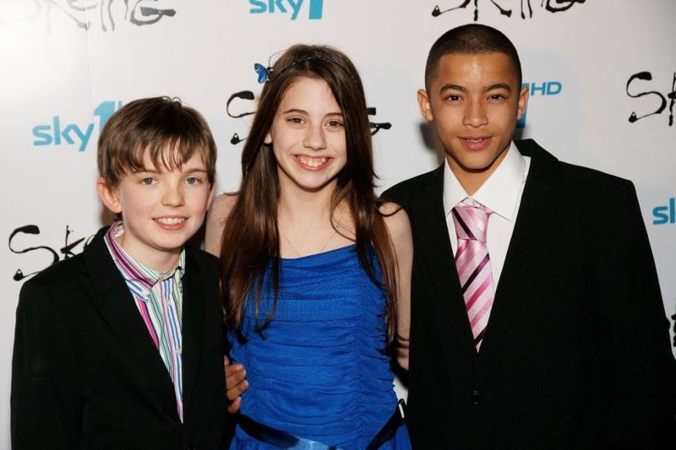 Bill Milner, Sky Bennett and Eros Vlahos at the VIP screening of