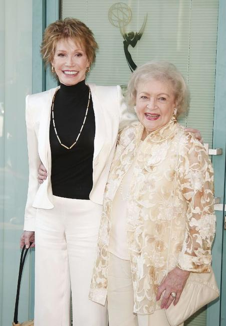 Mary Tyler Moore and Betty White at the Academy of Television Arts and Sciences celebrating Betty White's 60 years on television.