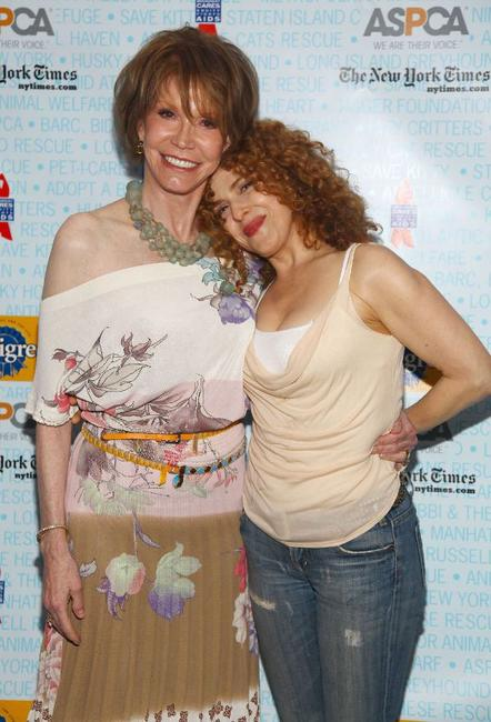 Mary Tyler Moore and Bernadette Peters at the 11th Annual Broadway Barks.