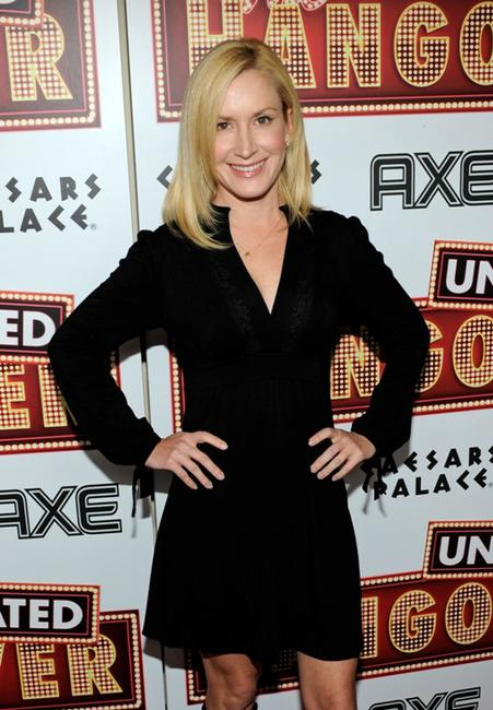 Angela Kinsey at the DVD launch party of