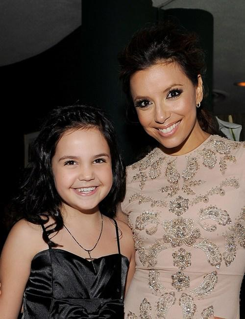 Bailee Madison and Eva Longoria-Parker at the Lionsgate Golden Globe Party.