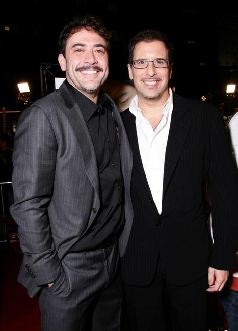 Jeffrey Dean Morgan and Director Richard LaGravenese at the premiere of