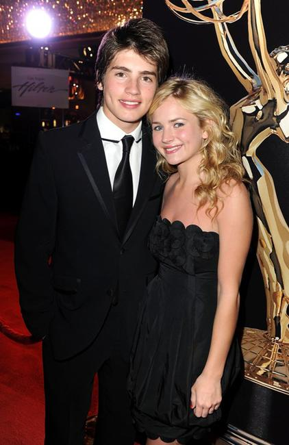 Gregg Sulkin and Brittany Robertson at the 37th Annual Daytime Entertainment Emmy Awards.