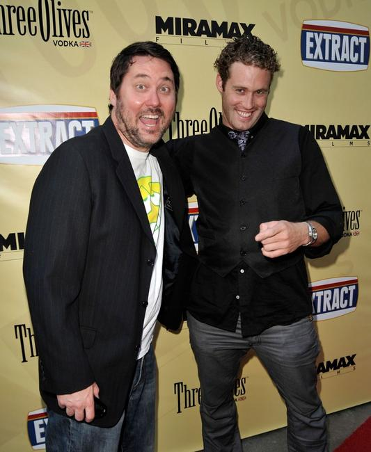 Doug Benson and T.J. Miller at the premiere of