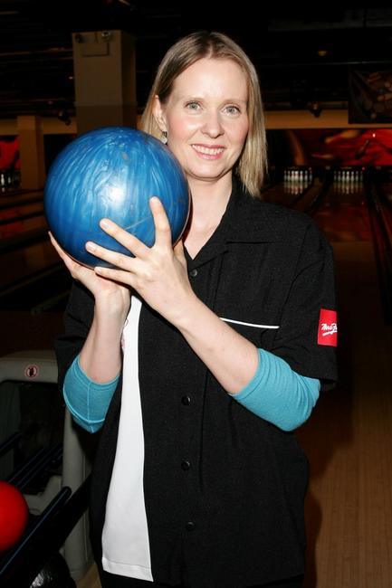 Cynthia Nixon at the 20th Anniversary of Second Stage Theatre's All Star Bowling Classic in New York City.