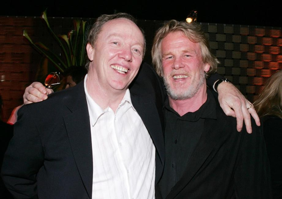 Nick Nolte and Terry George at party of