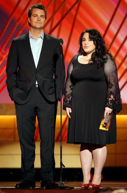 Chris O'Donnell and Nikki Blonsky at the 13th annual Critics' Choice Awards present the award for Best Animated Feature.