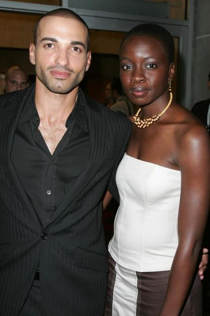 Haaz Sleiman and Danai Gurira at the world premiere of
