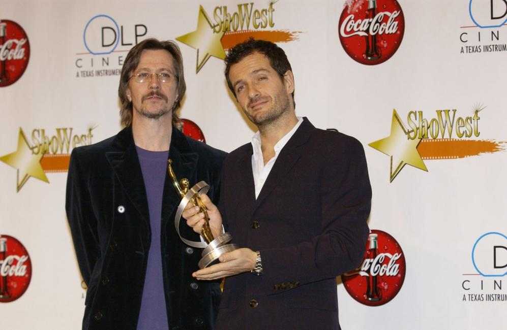 Gary Oldman and David Heyman at the 2003 ShoWest Awards Ceremony.