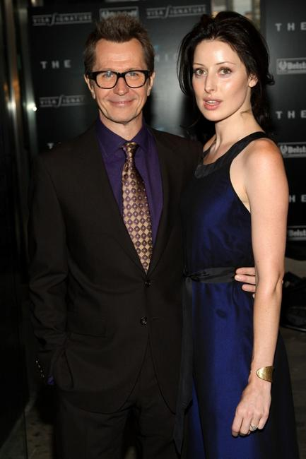 Gary Oldman and Alex Edenborough at the New York premiere of