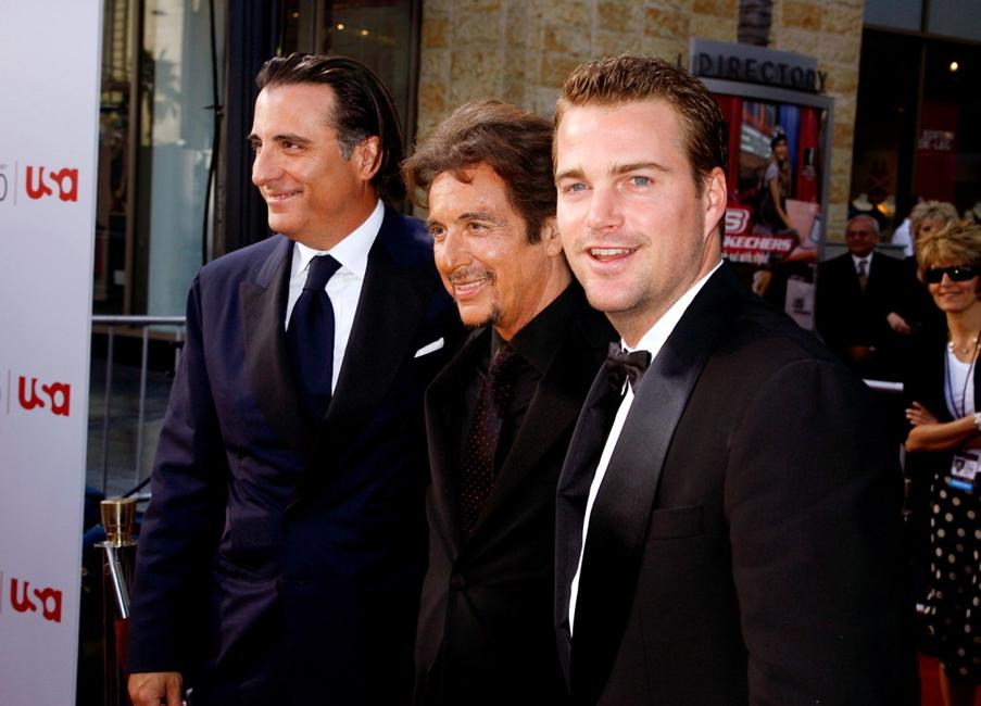 Al Pacino, Andy Garcia and Chris O'Donnell at the 35th afi Life Achievement Award.