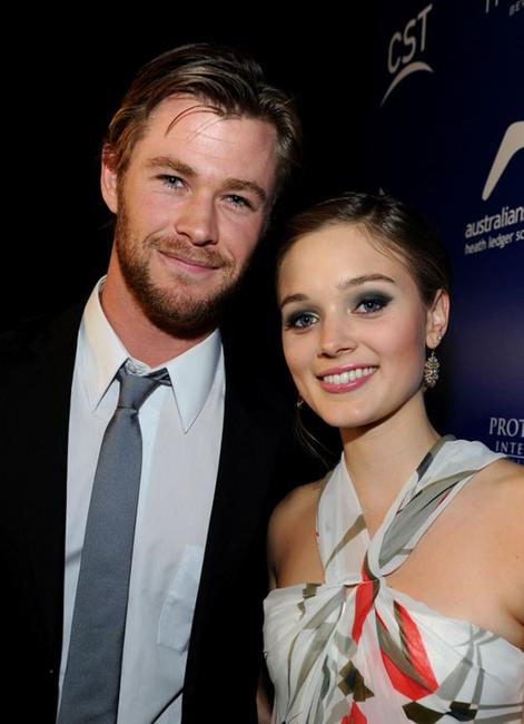Chris Hemsworth and Bella Heathcote at the Australians In Film's 2010 Breakthrough Awards.