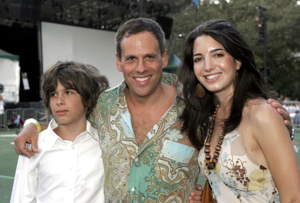 Zane Pais, Josh Pais and Marie Forleo at the premiere of