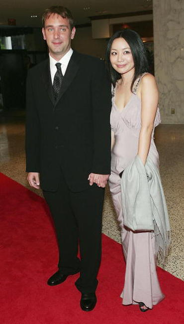Trey Parker and his girlfriend Emma at the White House Correspondents' Dinner.