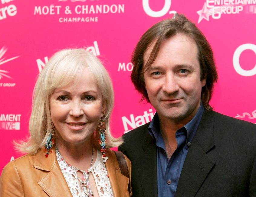 Sally Greene and Neil Pearson at the National Theatre: Fast Forward reception.