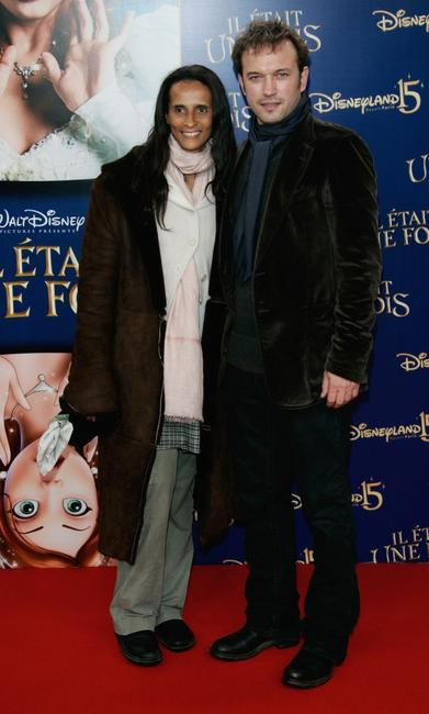 Karine Silla and Vincent Perez at the premiere of