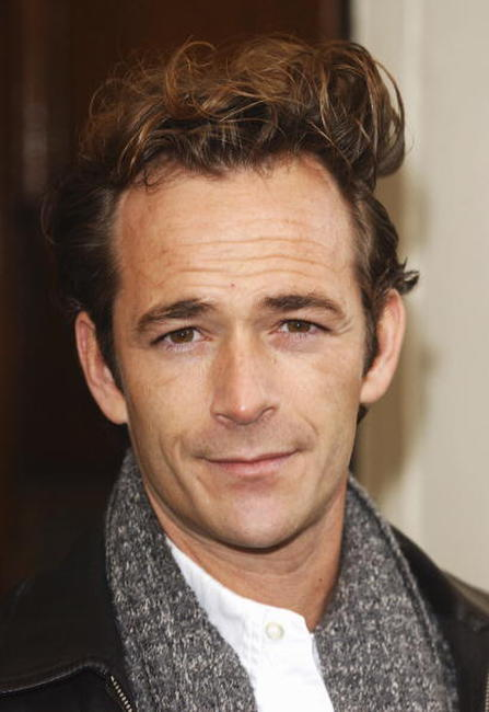 Luke Perry at the press launch of
