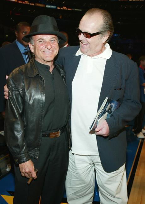 Joe Pesci and Jack Nicholson at the 2004 NBA All-Star Game held at the Staples Center.