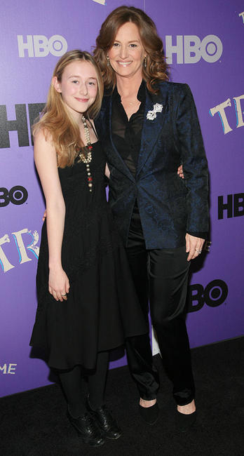 India Ennenga and Melissa Leo at the New York premiere of