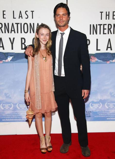 India Ennenga and Jason Behr at the premiere of