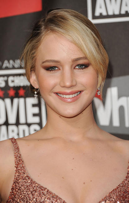 Jennifer Lawrence at the 16th annual Critics' Choice Movie Awards in California.