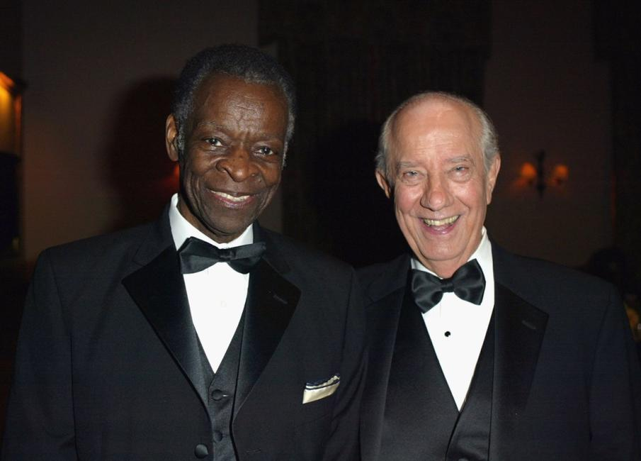 Brock Peters and Ian Abercrombie at the post party for the William Holden Wildlife Foundation's 20th Anniversary