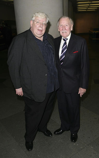 Richard Griffiths and Leslie Phillips at the pre-screening drinks reception for
