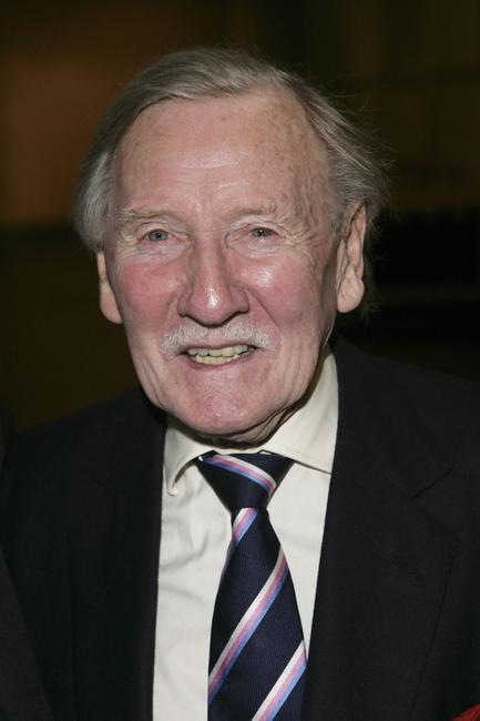 Leslie Phillips at the pre-screening reception of